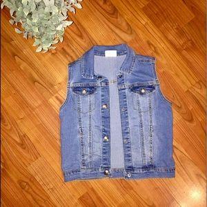 Crazy and Girls Jean Jacket Vest Size M
